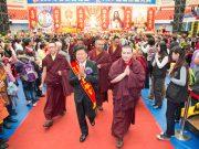 Thaye Dorje, His Holiness the 17th Gyalwa Karmapa, arriving at the interfaith event. Photo / Thule Jug