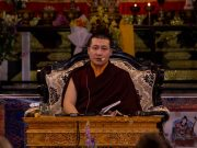 Thaye Dorje, His Holiness the 17th Gyalwa Karmapa, leads tributes to his teacher Kunzig Shamar Rinpoche