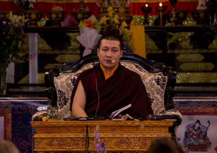 Thaye Dorje, His Holiness the 17th Gyalwa Karmapa, leads tributes to his teacher Kunzig Shamar Rinpoche