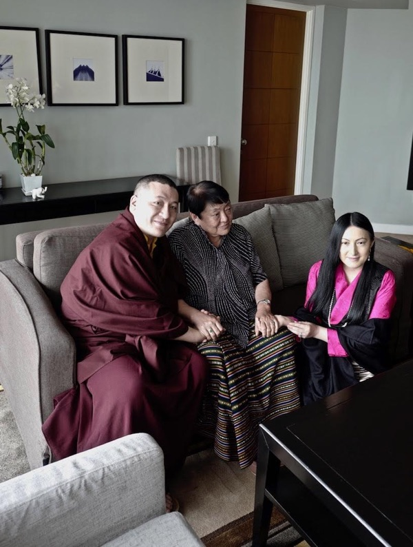 Thaye Dorje, His Holiness the 17th Gyalwa Karmapa, Her Royal Highness Ashi Chokyi, Sangyumla