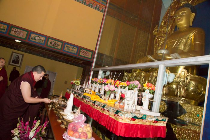 Thaye Dorje, His Holiness the 17th Gyalwa Karmapa, led the Meditation Course at the Karmapa International Buddhist Institute. Photo / Thule G. Jug