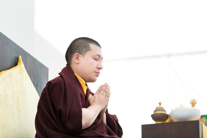 Thaye Dorje, His Holiness the 17th Karmapa, gives a teaching on preparing for peace
