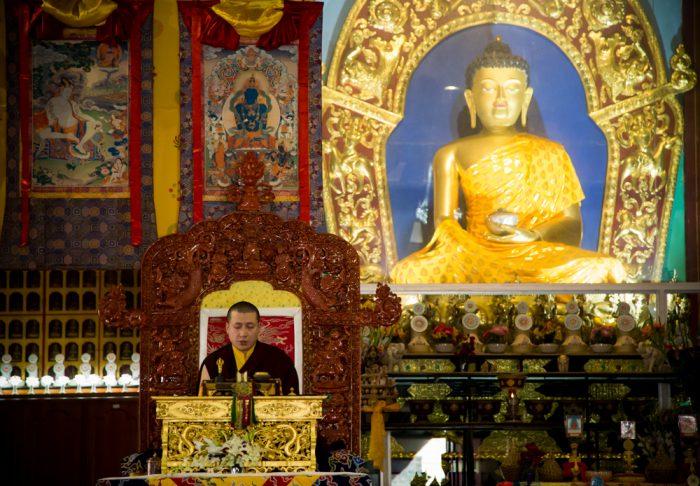 Amithayus empowerment at the Karmapa Public Course 2016