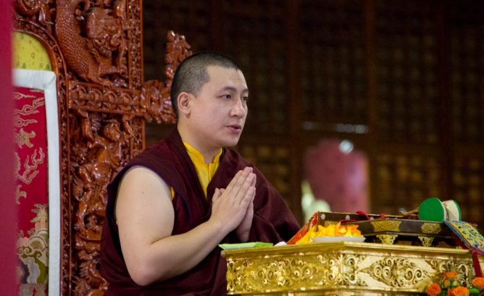 Thaye Dorje, His Holiness the 17th Gyalwa Karmapa, gives the empowerment of Manjusri