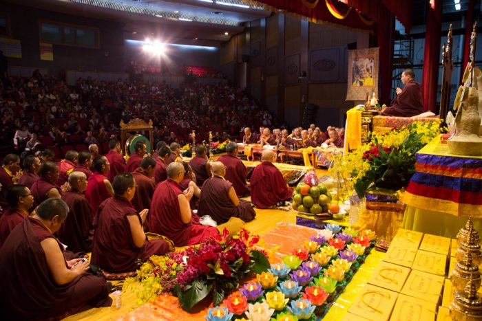 Thaye Dorje, His Holiness the 17th Gyalwa Karmapa, presides over the Kagyu Monlam in Taiwan. Photo / Thule Jug