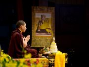 Thaye Dorje, His Holiness the 17th Gyalwa Karmapa, at the Kagyu Monlam in Taiwan. Photo / Thule Jug