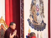 Thaye Dorje, His Holiness the 17th Gyalwa Karmapa, gives the empowerment of Mahakala. Photo / Thule Jug