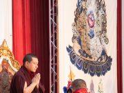 Thaye Dorje, His Holiness the 17th Gyalwa Karmapa, gives the empowerment of Mahakala. Photo / Thule Jug