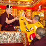 Thaye Dorje, His Holiness the 17th Gyalwa Karmapa, visits Taiwan: Offering of body, speech and mind. Photo / Thule Jug