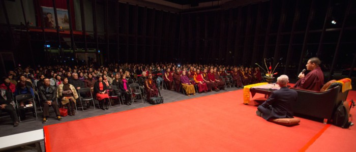 Thaye Dorje, His Holiness the 17th Gyalwa Karmapa, teaching about happiness. Photo / Thule Jug