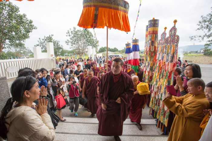 Thaye Dorje, His Holiness the 17th Gyalwa Karmapa, arrives at East Yangpachen Monastery. Photo / Thule Jug