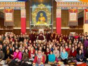 Participants at the public meditation course. Photo / Thule Jug