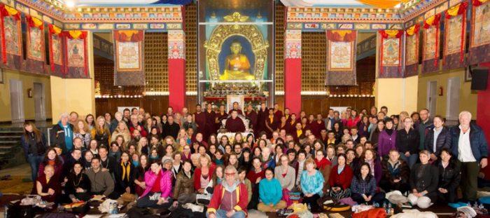 Participants at the public meditation course. Photo / Thule Jug