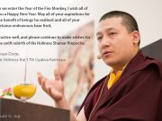 As we enter the Year of the Fire Monkey, I wish all of you a Happy New Year. May all of your aspirations for the benefit of beings be realised and all of your virtuous endeavours bear fruit. Practice well, and please continue to make wishes for the swift rebirth of His Holiness Shamar Rinpoche. Thaye Dorje, His Holiness the 17th Gyalwa Karmapa