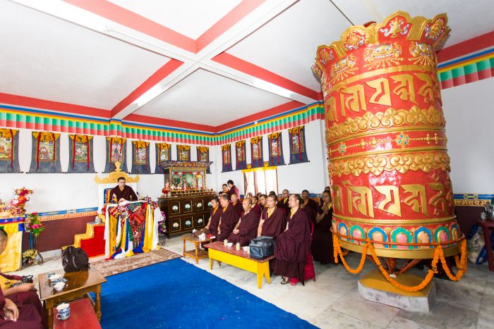 Inauguration of Mani Lhakang in Dotray village in Darjeeling by Thaye Dorje, His Holiness the 17th Gyalwa Karmapa. Photo / Magda Jungowska
