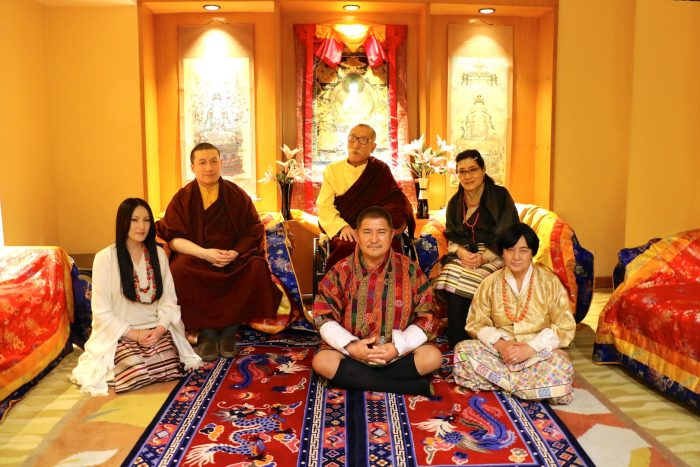 Top (left to right): HH Karmapa and his parents HE Mipham Rinpoche, Dechen Wangmo Bottom (left to right): Rinchen Yangzom and her parents Mr Chencho, Mrs Kunzang