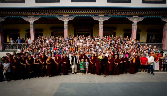 Participants of the Karmapa Public Course 2016