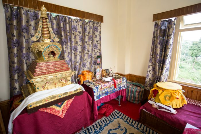 Filling and consecration ceremony of the gold stupa with the relics of His Holiness Kunzig Shamar Rinpoche. Photo / Magda Jungowska