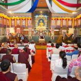 Tribute to Shamar Rinpoche: Introductory speech by Professor Sempa Dorje. Photo / Thule Jug