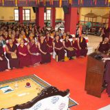 Tribute to Shamar Rinpoche: Concluding speech by Thaye Dorje, His Holiness the 17th Gyalwa Karmapa. Photo / Thule Jug