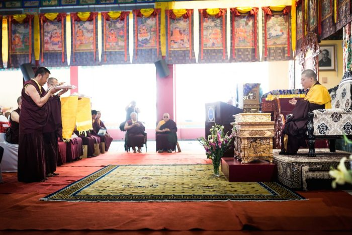 Tribute to Shamar Rinpoche: Mandala offering. Photo / Tokpa Korlo