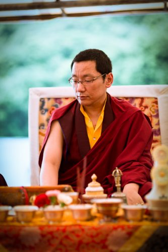 Trungram Gyaltrul Rinpoche performing the puja of Demchok. Photo/Tokpa Korlo