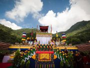View of the roof of Shar Minub monastery, where the cremation of Kunzig Shamar Rinpoche took place. Photo/Tokpa Korlo