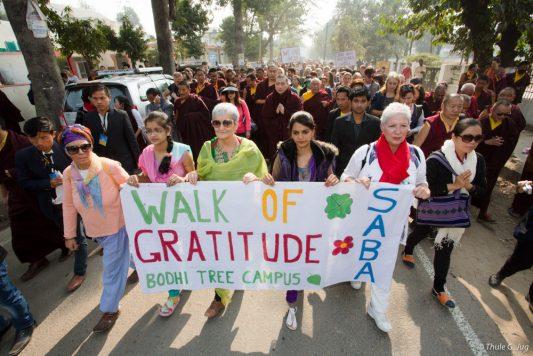 Walk of gratitude led by Thaye Dorje, His Holiness the 17th Gyalwa Karmapa
