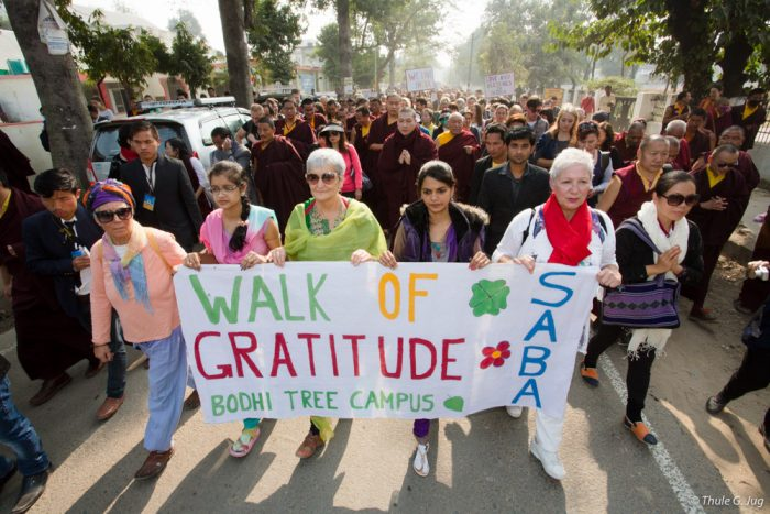 Walk of gratitude led by Thaye Dorje, His Holiness the 17th Gyalwa Karmapa
